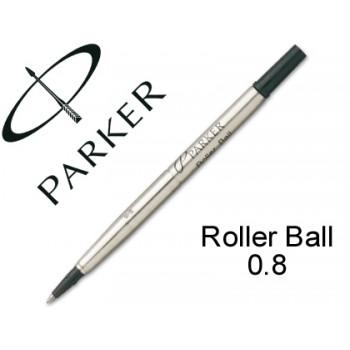 Carga Esferográfica Parker Roller Ball Medio Preta