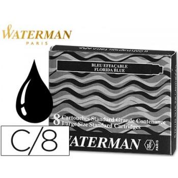 Cartucho de Tinta Waterman Preta Grande -Caixa 8 Unidades