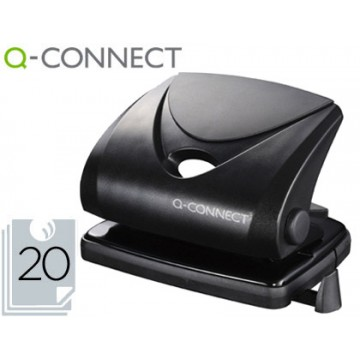 Furador 20 Folhas Preto Q-Connect