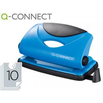 Furador 10 Folhas Plástico e Base Metálica Azul Q-Connect