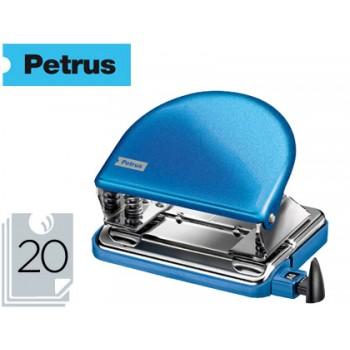 Furador 20 Folhas Metálico Petrus 52 Wow Azul Metalizado