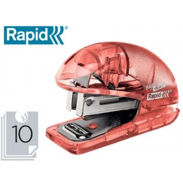 Agrafador 10 Folhas Nº24/6 + 1Caixa Agrafos Rapid F4 Baby-Ray Ice Vermelho