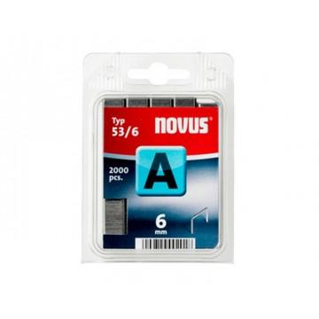 Agrafos 53/6mm Blister com 2000 Novus