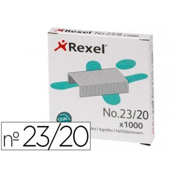 Agrafos 23/20mm Caixa com 1000 Rexel (130/ 170 Folhas)