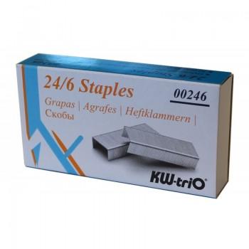 Agrafos  24/6mm caixa com 1000 Kw-Trio