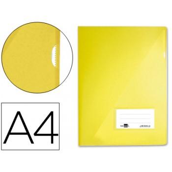 Bolsa Plástica A4 com Visor Amarela Translucida
