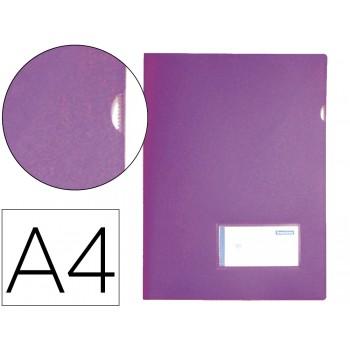 Bolsa Plástica A4 com Visor Lavanda Opaco