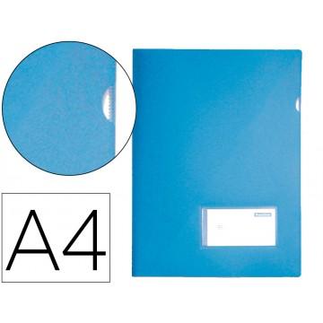 Bolsa Plástica A4 com Visor Azul Opaco 10 Unidades