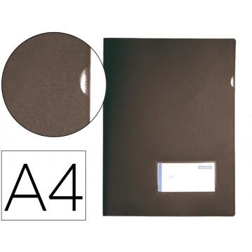 Bolsa Plástica A4 com Visor Preta Opaco