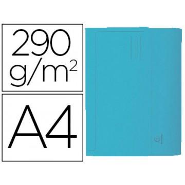 Classificador A4 Cartolina 290gr Bolsa e Aba Fole até 32mm Azul 50 Unidades