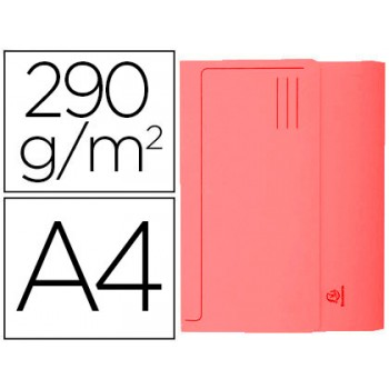 Classificador A4 Cartolina 290gr Bolsa e Aba Fole até 32mm Vermelho 50 Unidades