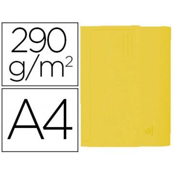 Classificador A4 Cartolina 290gr Bolsa e Aba Fole até 32mm Amarela 50 Und