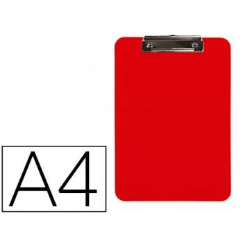 Porta Notas Prancheta Com Mola A4 Plástico Vermelho Q-Connect