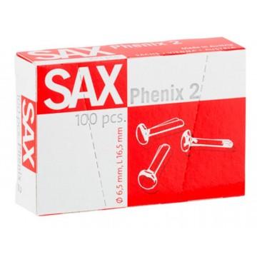 Ataches Nº2 SAX 16,5mm Caixa 100 unidades