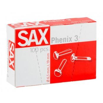 Ataches Nº3 SAX 19mm Caixa 100 unidades