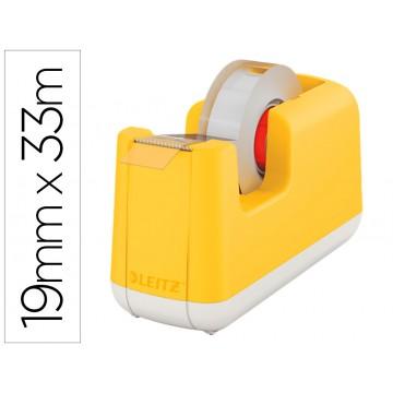 Desenrolador Secretária para Fita 33mts Leitz Cosy em Plástico Amarelo