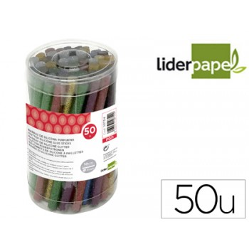 Tubos de Cola Quente de 7mmx100mm de Altura purpurina 50 Unidades