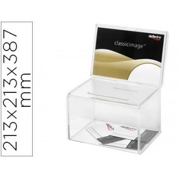 Caixa de Sugestões Poliestireno Transparente 213x213x387mm Archivo 2000