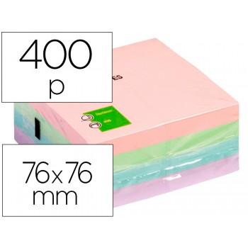 Bloco Notas Adesivo 75mmx75mm Cor Pastel 400 Folhas