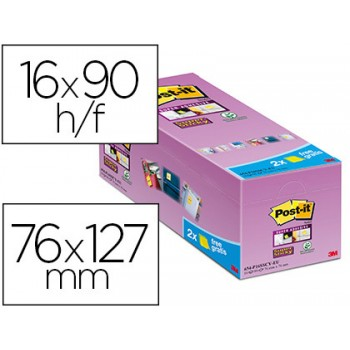 Bloco Notas Adesivo 76mmx127mm Amarelo 16x90 Folhas Post-It