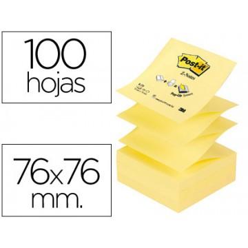 Bloco Notas Adesivo 76mmx76mm Amarelo Zig-Zag 100 Folhas Post-It 12 Unidades