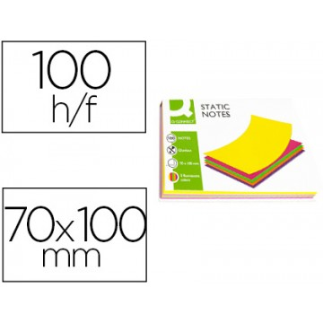 Bloco Notas Magnéticas 70x100mm 100 Folhas 5 Cores Fluorescentes Q-Connect