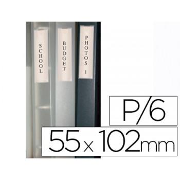Bolsa Auto Adesiva para Lombada de Pasta 55x102mm 6 Unidades Q-Connect