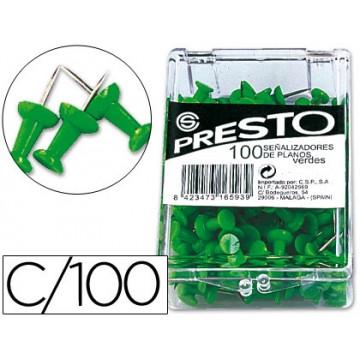 Alfinetes de Sinalização Verde caixa 100 Unidades