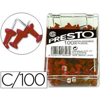 Alfinetes de Sinalização Vermelho caixa 100 Unidades