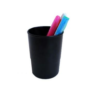Copo Porta Lápis Plástico Preto