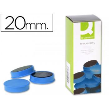 Ímans Para Quadro Magnético 20mm (10 Unidades) Azul