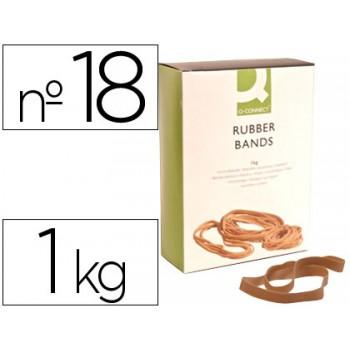 Elásticos Nº18 Banda Caixa 1Kg 180x16mm Q-Connect