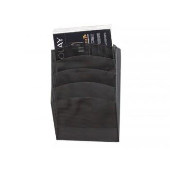 Expositor de Parede 5 Compartimentos Metálico Preto 315x930x440mm