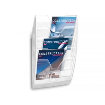 Expositor de Parede 5 Compartimentos Transparente e Branco 580x122x350mm