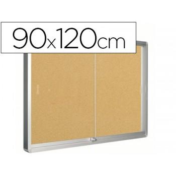 Vitrine de Interior Oval Fundo de Cortiça 1200X900mm