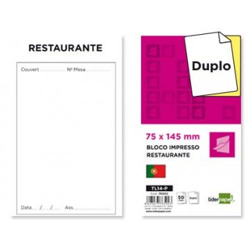 Bloco Notas de Restaurante 145x75mm Original e Cópia