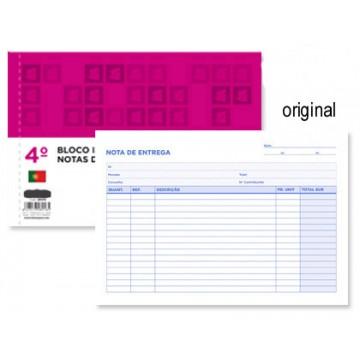Bloco Notas de Entrega A5 155X215mm Original Formato ao Baixo