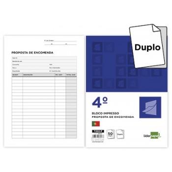 Bloco Notas De Encomenda 144X210mm Duplicado