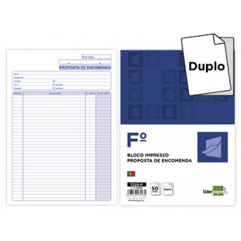 Bloco Notas De Encomendas A4 215X315mm Duplicado