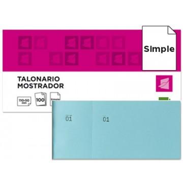 Bloco Talões 6/4 Numerados Simples Azul pack 20 Unidades
