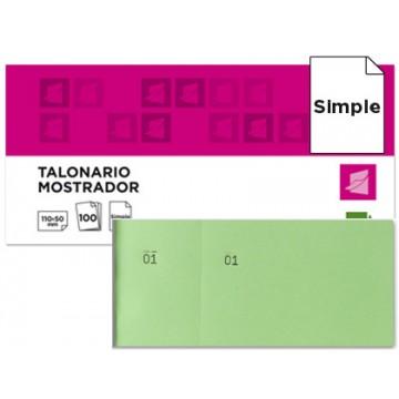 Bloco Talões 6/4 Numerados Simples Verde Pack 20 Unidades