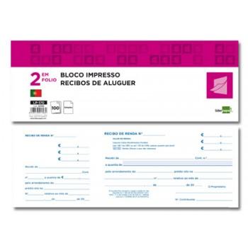 Livro Recibos Aluguer 295x105 mm