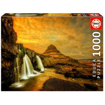Puzzle Cascata Kirkjuellsfoss Island 1000 Peças Educa
