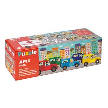 Puzzle Somas Tema Transportes 30 Peças Apli
