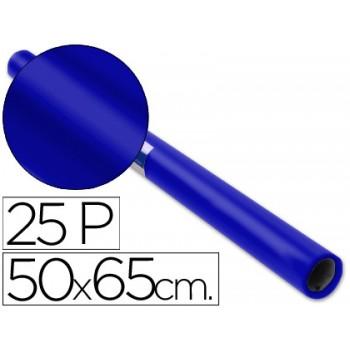 Papel De Lustro Rolo 50x65cm 25 folhas Azul