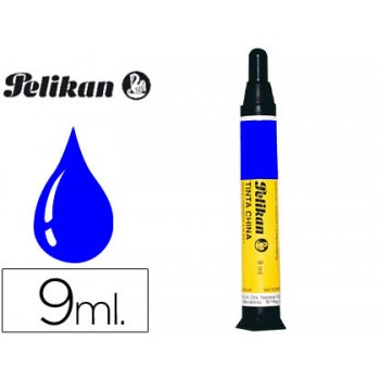 Tinta Da China Pelikan 9ml Azul