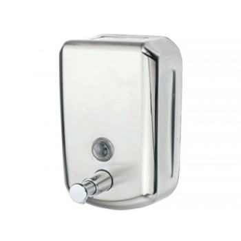 Dispensador de Sabão Manual 800ml Aço Inoxidável 178x114x56mm