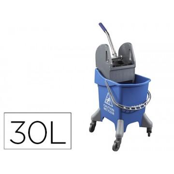 Carro de Limpeza com 4 Rodas 30L Azul 440x330x460mm