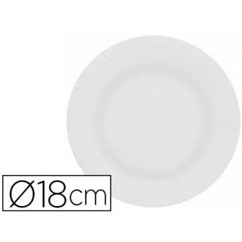 Prato Papel Reciclável Branco 18cm 100 Unidades