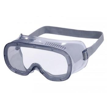 Óculos de Proteção Panorâmicos Armação em Pvc Ventilação Direta Cinza